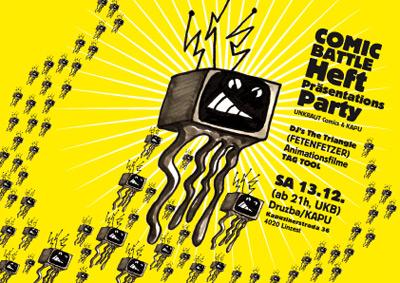 Comic Battle Heft Präsentations Party